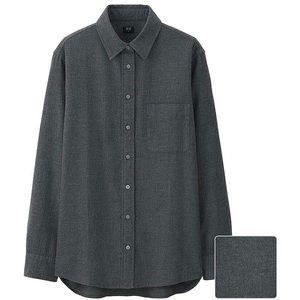 Uniqlo Dark Grey Button-Up